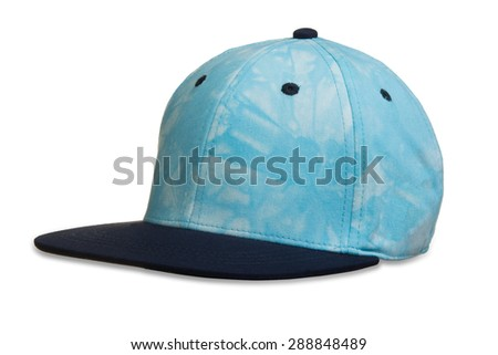 Cap for boy white background - stock photo