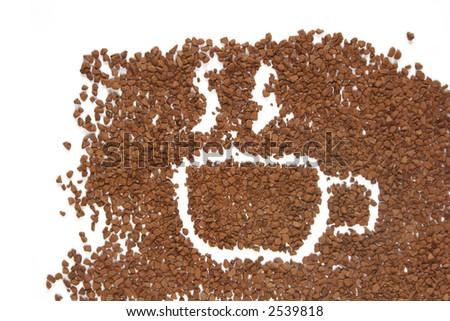 cap instant coffee - stock photo