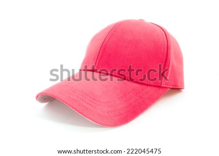cap isolated on white background - stock photo