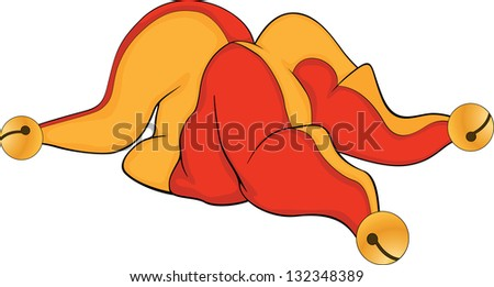 Cap of a joker.Cartoon - stock photo
