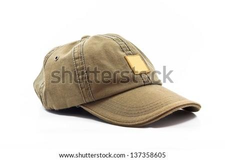 Cap on a white background.