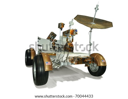 CAPE CANAVERAL, FL- DEC 28: The Lunar Roving Vehicle of Apollo 17 displayed at NASA, Kennedy Space Center in Florida, December 28, 2010. - stock photo