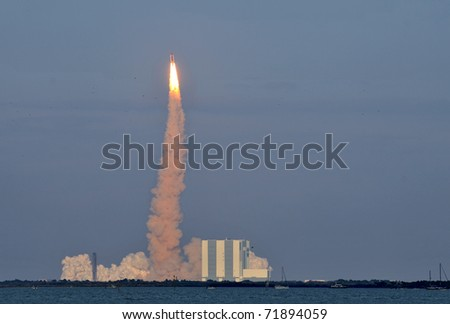 CAPE CANAVERAL, FL- FEB. 24: The last and final launching of Space Shuttle Discovery at NASA, Kennedy Space Center on February 24, 2011 in Cape Canaveral, FL
