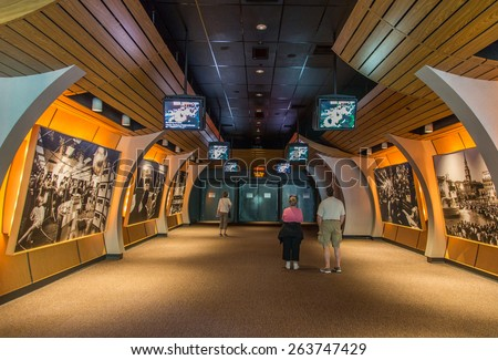 Cape Canaveral, Florida, USA - MARCH 20, 2015: NASA Kennedy Space Center Museum, a quick walk around  - stock photo