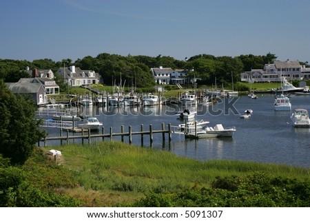 Cape Cod Harbor - stock photo