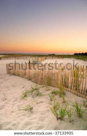Cape Cod is an arm-shaped peninsula nearly coextensive with Barnstable County, Massachusetts - stock photo