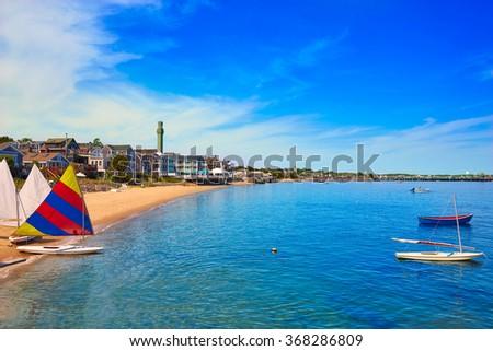 Cape Cod Provincetown beach Massachusetts USA - stock photo