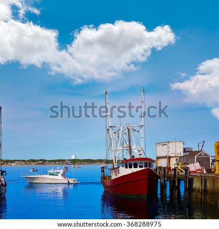 Cape Cod Provincetown port in Massachusetts USA - stock photo