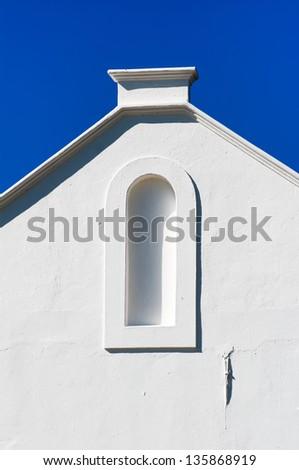 Cape Dutch architecture, Stellenbosch, South Africa - stock photo