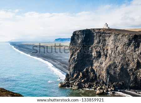 cape Dyrholaey - stock photo