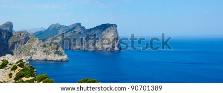 Cape formentor in the coast of mallorca, balearic islands