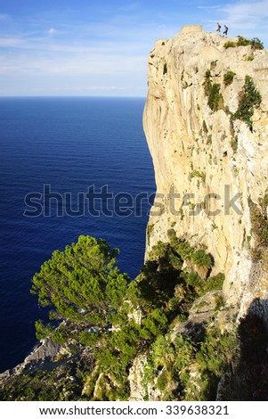 Cape Formentor, Panoramic View. Mallorca, Balearic Islands in Spain - stock photo
