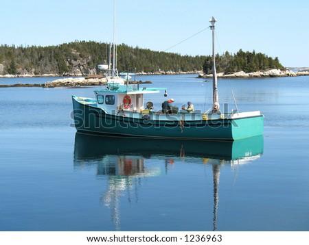 Cape Islander Boat in Nova Scotia - stock photo