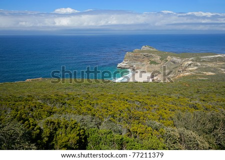 Cape of Good Hope (view from Cape Point), Table Mountain National Park, near Cape Town, South Africa - stock photo