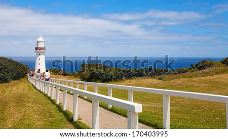 Cape Otway Lighthouse, Great Ocean Road, Australia  - stock photo