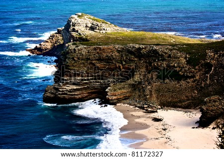 Cape Point, Cape of good Hope, South Africa - stock photo