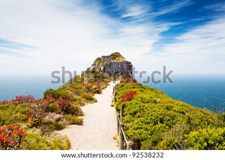 cape point nature reserve, south africa - stock photo