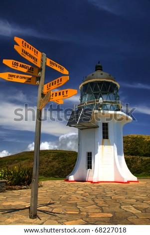 Cape Reinga Lighthouse, New Zealand - stock photo