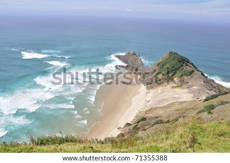 Cape Reinga, north edge of New Zealand - stock photo