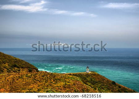 Cape Reinga, Northern Tip of New Zealand - stock photo