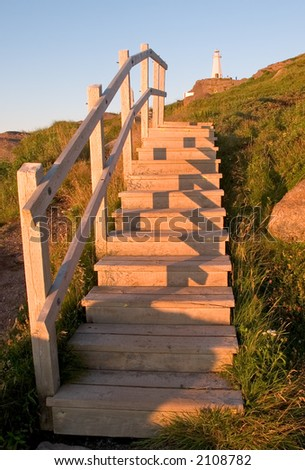 Cape Spear lighthouse in Newfoundland Canada - stock photo