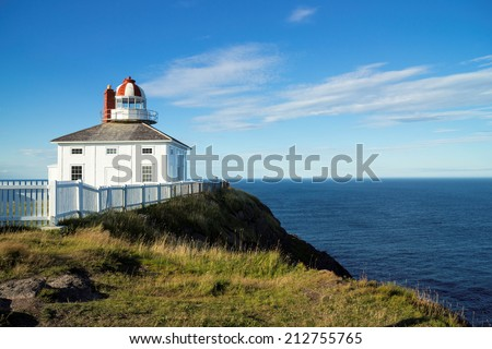 Cape Spear National Historic Site, Originally built 1836, Avalon Region of Newfoundland - stock photo