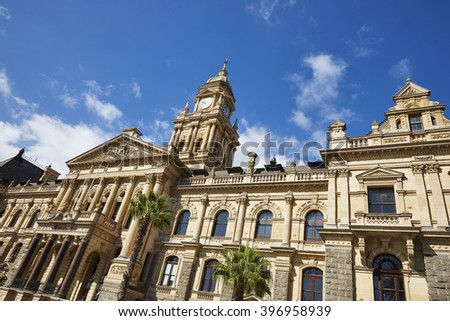 Cape Town City Hal which was built in 1905, South Africa - stock photo