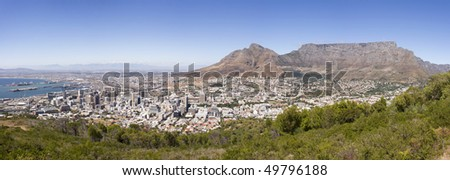 Cape Town City Panorama, South Africa - stock photo