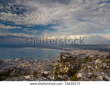 Cape Town From Table Mountain - stock photo