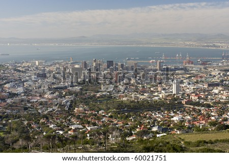 Cape Town from Table Mountain (South Africa).