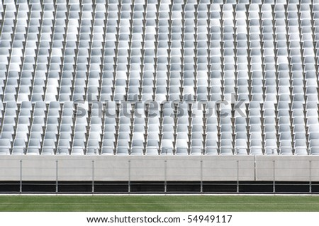 CAPE TOWN - MAY 6: Empty seats of the Green Point  Soccer Stadium in Cape Town, South Africa on May 6, 2010.  Green Point Stadium has been approved to host a number of matches during the 2010 World Cup.