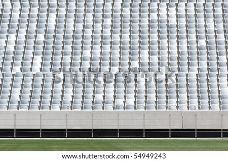 CAPE TOWN - MAY 6: Empty seats of the Green Point  Soccer Stadium in Cape Town, South Africa on May 6, 2010.  Green Point Stadium has been approved to host a number of matches during the 2010 World Cup. - stock photo