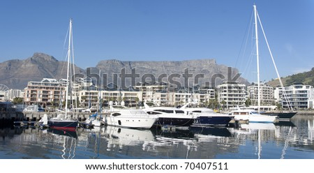 Cape Town Panorama, South Africa - stock photo