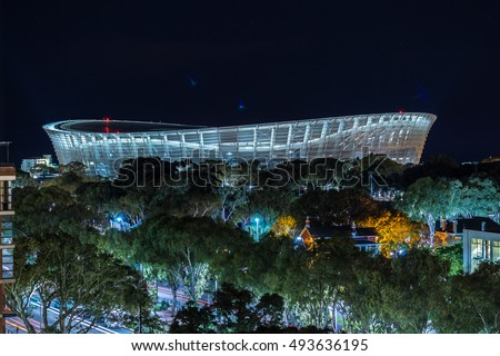 Cape Town - Sept 8: Cape Town Stadium has become one of the notable landmarks of the city after successfully hosting the 2010 FIFA World Cup, Cape Town, South Africa Sept 8, 2015