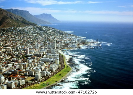 Cape Town - South Africa - Aerial View - stock photo