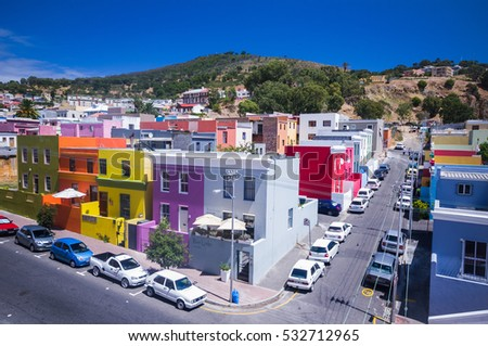 CAPE TOWN, SOUTH AFRICA - JAN 27: colored bo kaap neighborood depicted  on the first of february 2010 , cape town , south africa.