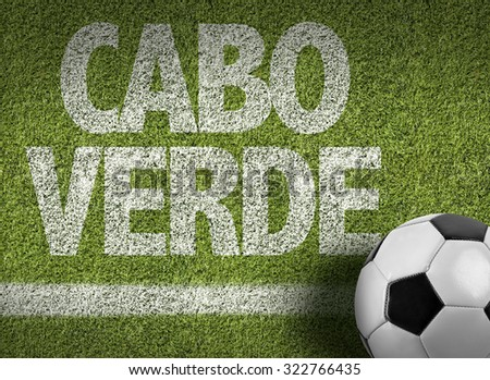 Cape Verde (in Portuguese) Ball in a Soccer field