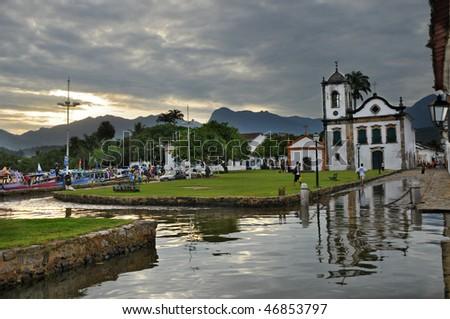 Capela de Santa Rita, Paraty, Rio de Janeiro, Brasil - stock photo