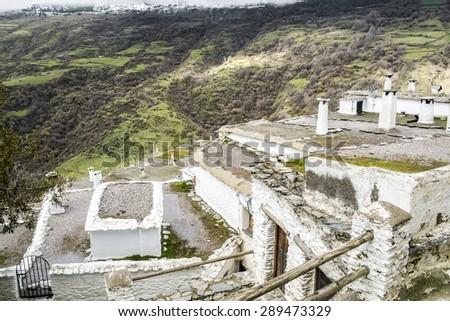 Capileira in Poqueira ravine, La Alpujarra, Granada province, Andalusia, Spain - stock photo