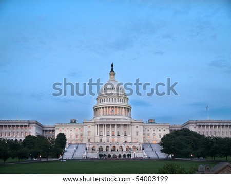 Capital Building in Washington DC - stock photo