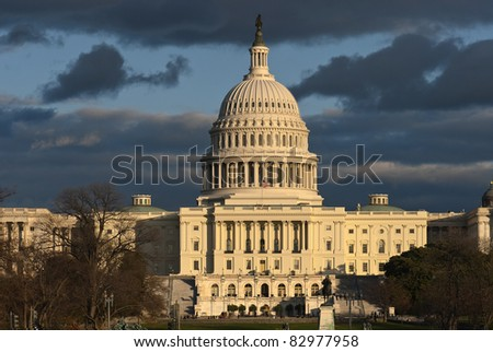 Capital Building in Washington, DC - stock photo