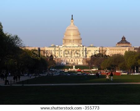 Capital Building, Washington D.C. - stock photo