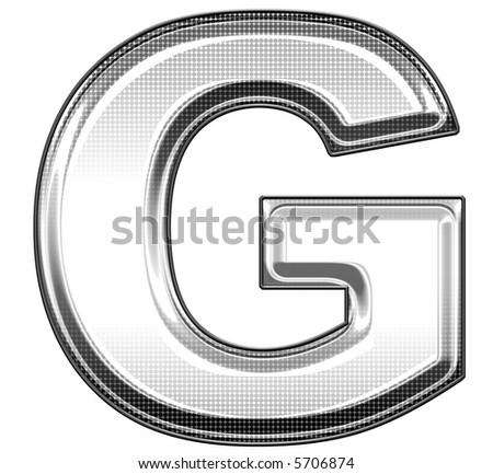 capital letter G - stock photo