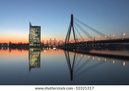 Capital of Latvia Riga, Baltic states. Largest city in Baltic. - stock photo