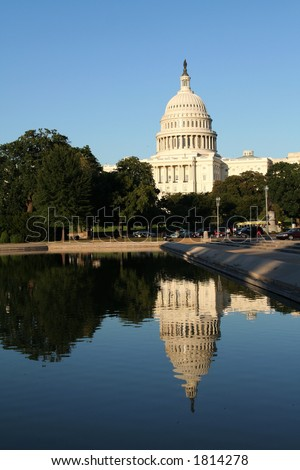 Capitol and Reflective pool