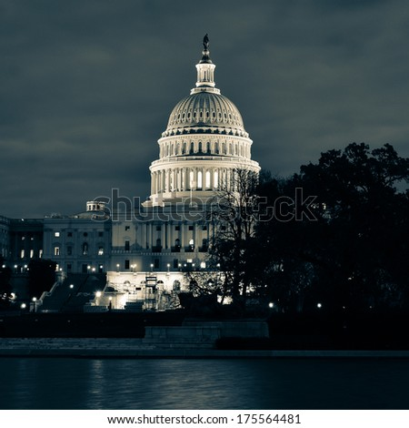 Capitol at night - Washington DC, USA