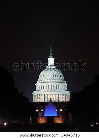 Capitol Building at dusk, Washington DC - stock photo