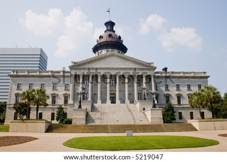 capitol building in downtown Columbia, South Carolina