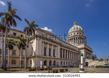 Capitol building in Habana, Cuba - stock photo