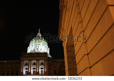 Capitol building in Harrisburg, Pennsylvania. - stock photo